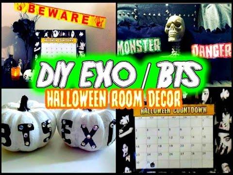 DIY KPOP EXO/BTS HALLOWEEN ROOM DECOR