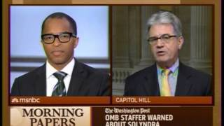 Coburn to MSNBC on Mainstream Media's Disconnected Criticism of Tea Party: You Don't Get It