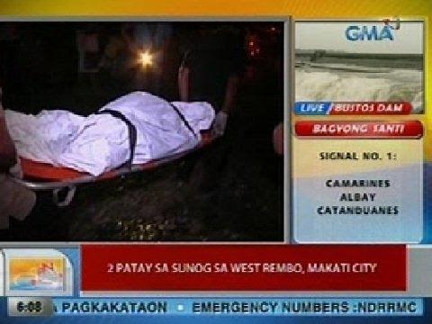 UB: 2 patay sa sunog sa West Rembo, Makati City