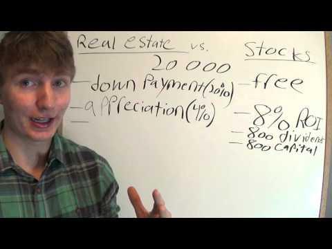Rental Real Estate vs Stock Market - Comparison - Example