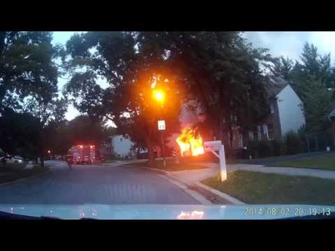 Working House Fire in Laurel, Maryland - Prince George's County