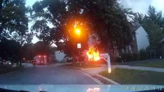 Working House Fire in Laurel, Maryland - Prince George
