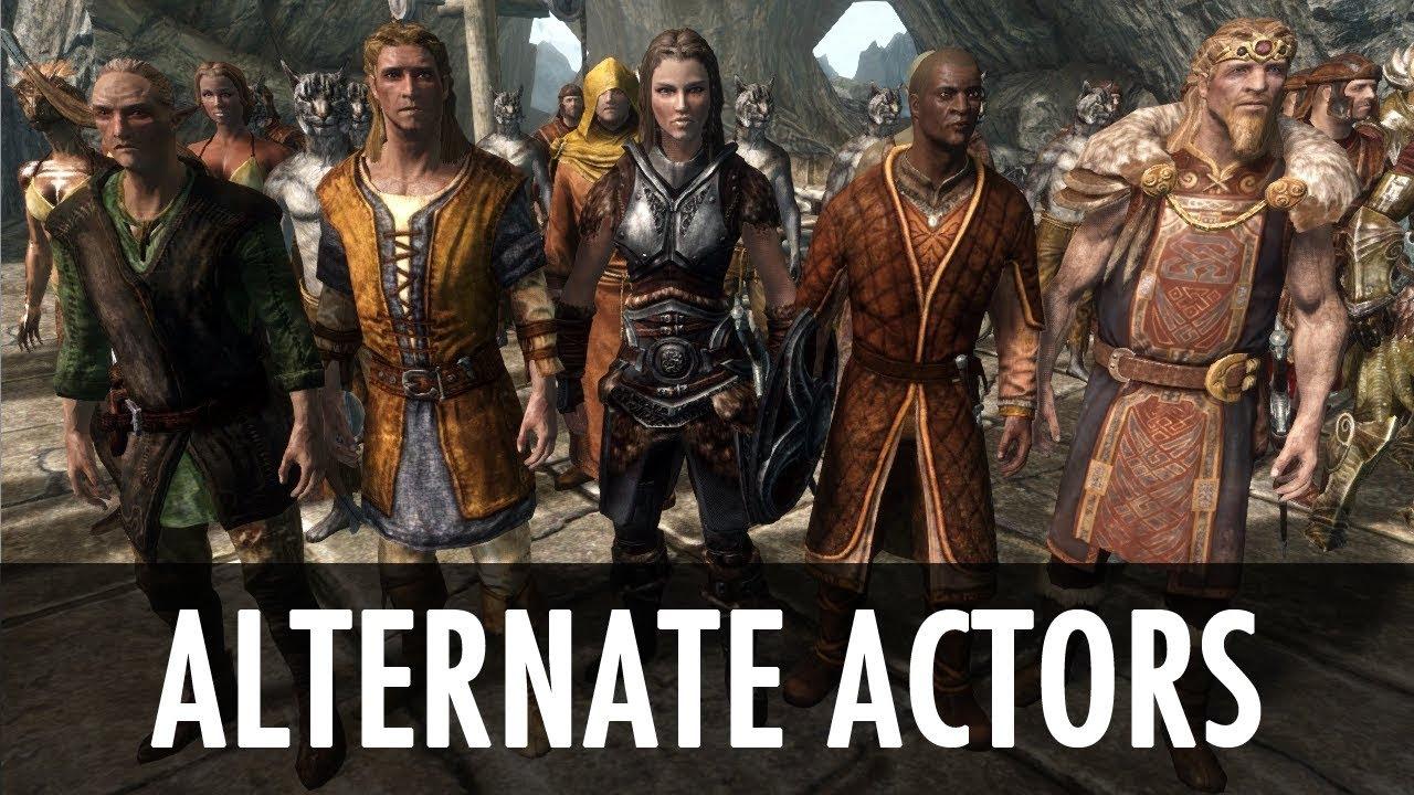 Скачать мод на скайрим alternate actors
