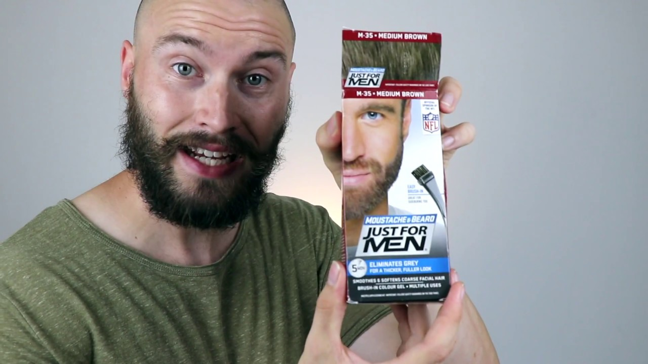 JUST FOR MEN BEARD DYE - BEFORE/AFTER on THIN PATCHY BEARD