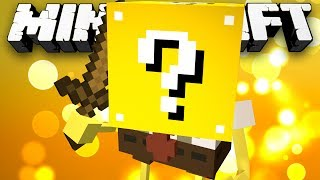 Minecraft Modded Minigame: LUCKY BLOCK SPONGEBOB?! (Lucky Block Modded Walls) - w/Preston & Friends
