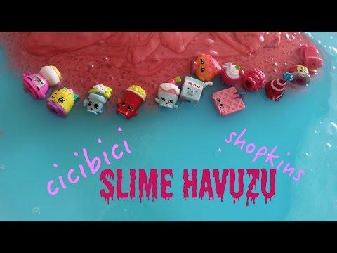 cicibici shopkins slime havuzu nasıl yapılır