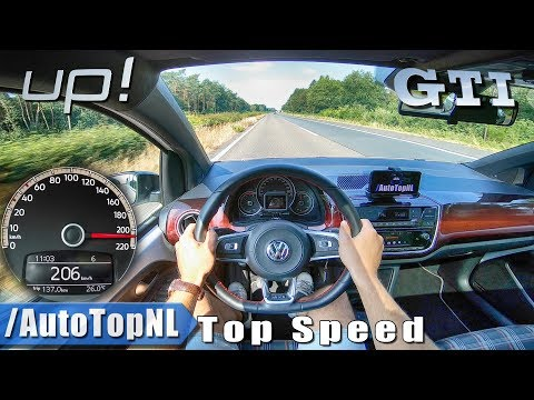VW UP GTI | AUTOBAHN POV TOP SPEED 206km/h By AutoTopNL