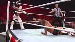 Randy Orton/Rey Mysterio vs Cody Rhodes/CM Punk (WWE Raw 4/4/11)