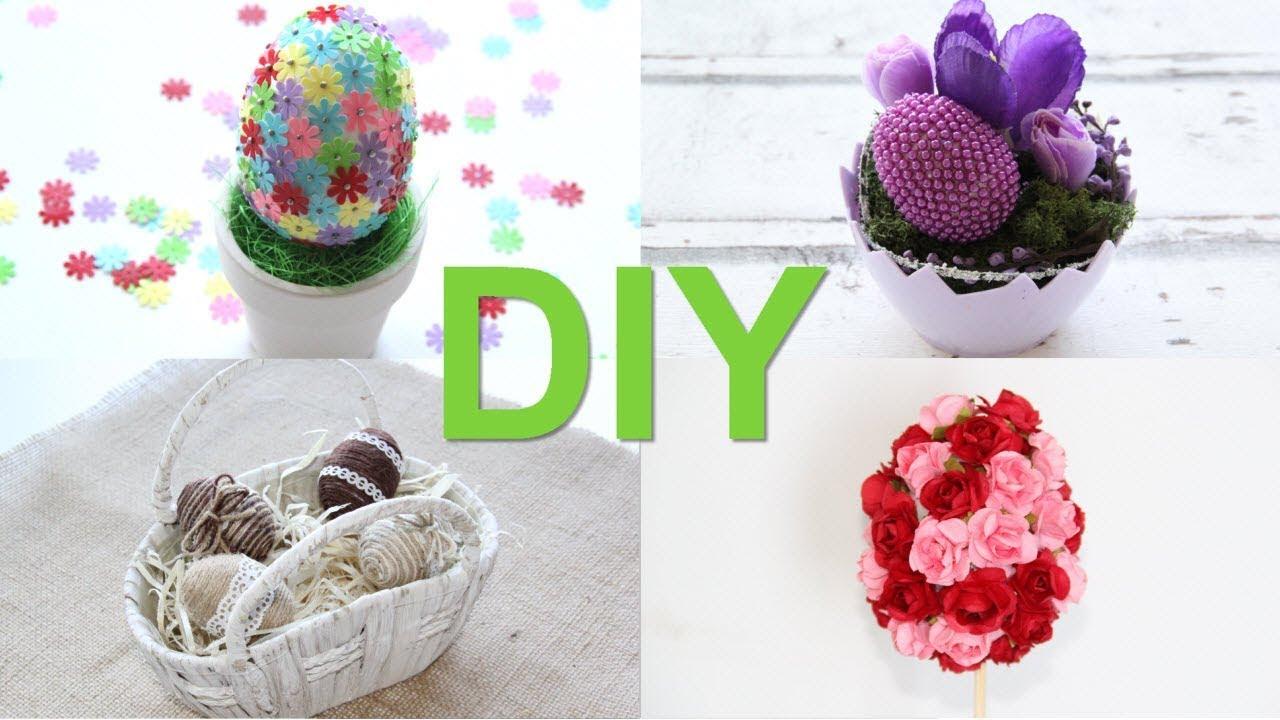 90f9539d267f Kreatívne ruky - DIY 4 nápady na veľkonočné vajíčka - YouTube