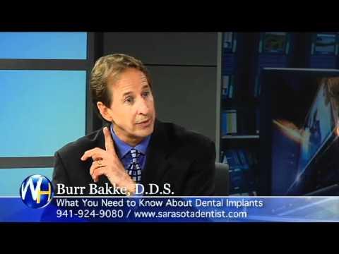 Burr Bakke, D.D.S. Discusses Dental Implants in Sarasota FL with Randy Alvarez