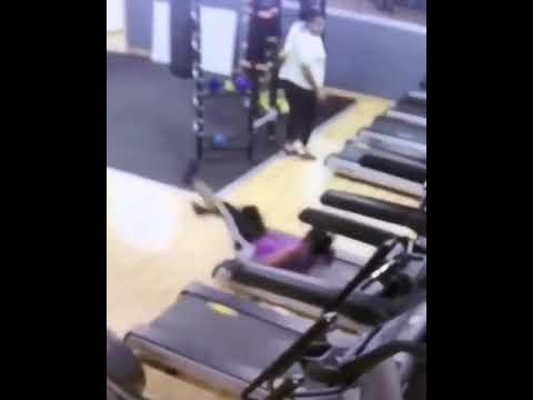 Cool Beans - Woman Falls Off Treadmill Twice