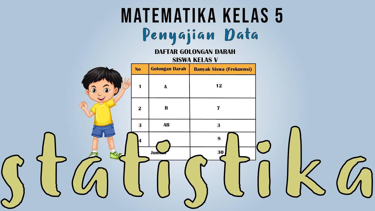 Matematika Kelas 5 Statistika Penyajian Data Youtube