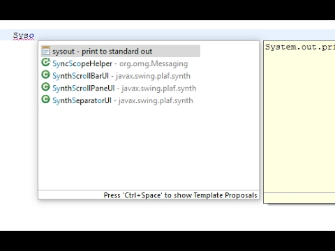 Enable Disable - Auto Complete Suggestion in Eclipse IDE Tutorial