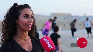بالفيديو.. حساب إنستغرامي يجمع العشرات من الفتيات على رياضة المشي