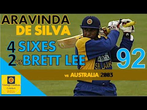 Download Counter-attacking Aravinda De Silva 92 with 2 massive 6s vs Brett Lee 4x9 6x4