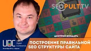 Построение правильной SEO структуры сайта. Дмитрий Бондарь. uadigitalconf