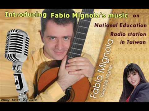 Introducing Fabio Mignola 's music on National Education Radio station in Taiwan