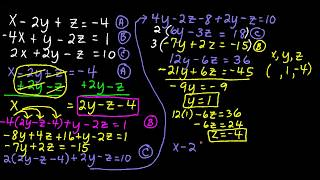 solving a system of 3 equations and 3 variables with substitution