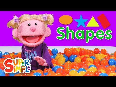 Super Duper Ball Pit | Learn About Shapes  | Oval, Star, Triangle, Rectangle