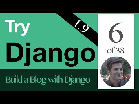 Try Django 1.9  - 6 of 38 - First App & Model
