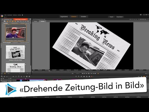 Drehende Zeitung mit Bild in Bild Effekt Pinnacle Studio 20 Video Tutorial Deutsch
