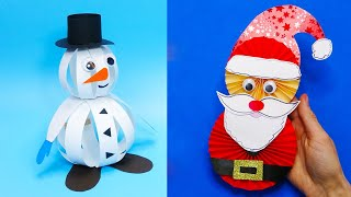 5 DIY christmas Easy paper crafts   5 minute crafts christmas