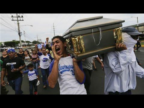 سكان نيكاراغوا يشيعون القتلى في الاحتجاجات المستمرة في البلاد  - نشر قبل 2 ساعة
