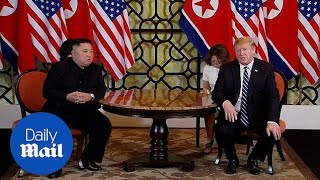 Trump and Kim begin day two of talks on their second summit