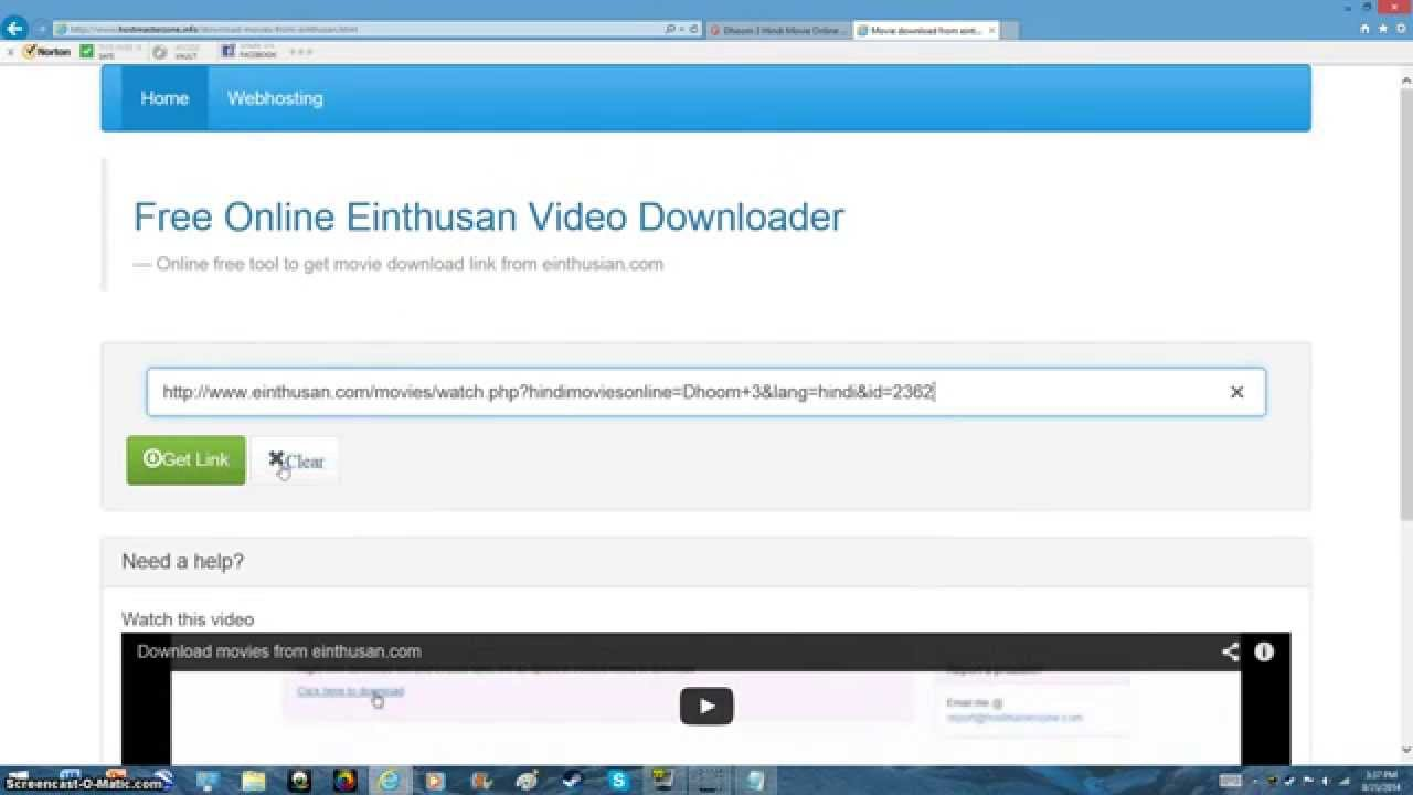 how to download videos from einthusan