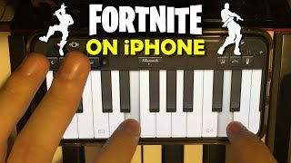 15 FORTNITE DANCES played on an iPhone Piano