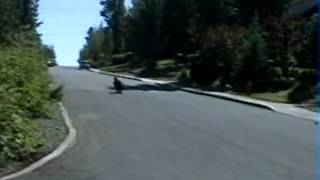 High speed Longboard stops.  (Warm up Sessions run #1)