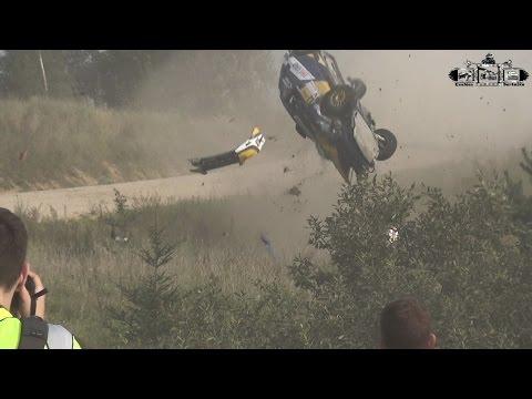 Prokudin Andrey & Nikita Gergel  crash in rally  Elektrėnai 2016