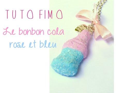 Tutoriel Moule Siligum Et Bonbon En Fimo Cola Rose Et Bleu Youtube