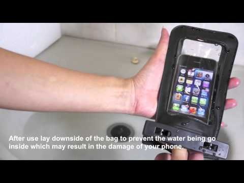 IPx8 waterproof bag cover with armband & neck strap