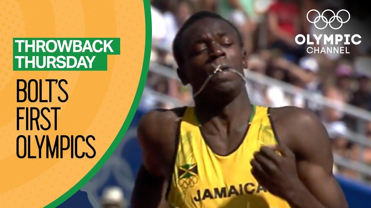 Usain Bolt's First Olympic Race | Throwback Thursday