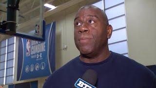 2018 NBA Combine Magic Johnson  Michigan State Spartans  NBA  Big Ten Basketball