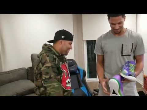 Dropping Off Fortnite Custom Kobes At Josh Hart's Crib!