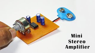 Mini Stereo Audio Amplifier Circuit