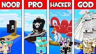 Minecraft - NOOB vs PRO vs HACKER vs GOD : FAMILY PIRATE SHIP in Minecraft ! Animation