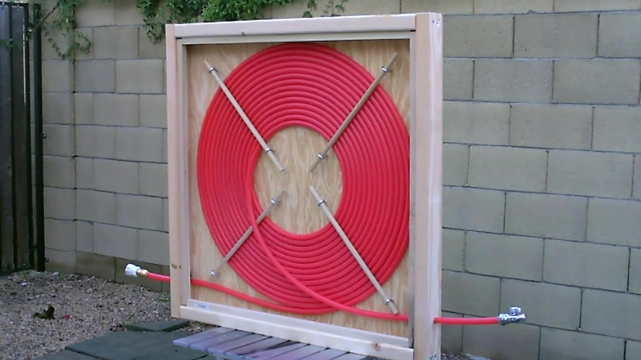 DIY PEX Solar Water Heater! - A brief Overview of my PEX COIL Solar Water  Heater - Easy DIY