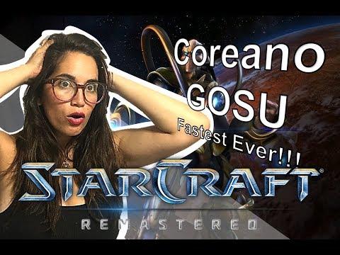 COREANO GOSU GAMEPLAY STARCRAFT REMASTERED|VIDEO REACCIÓN NIÑA RATA