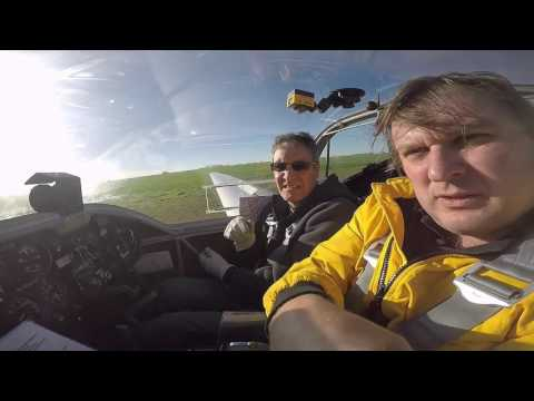 motor glider -flight No 30-navigation exercise -low wave clo