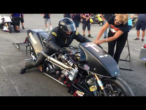 First Five-Second V-Twin Nitro Harley? The Must See Supercharged V-Twin Dragbike Looking For History