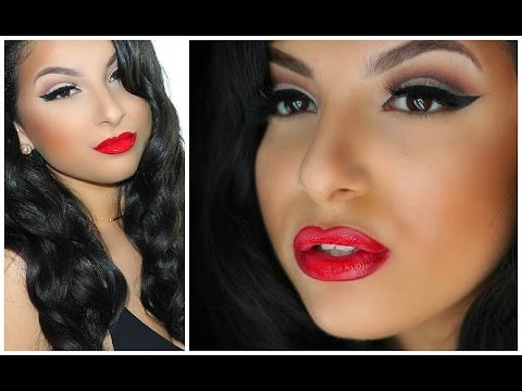Classic Hollywood Makeup & Hair Tutorial PROM 2015   Makeup By Leyla