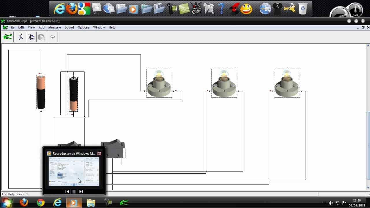 Circuito Electrico Basico : Como hacer un circuito eléctrico básico en la pc con