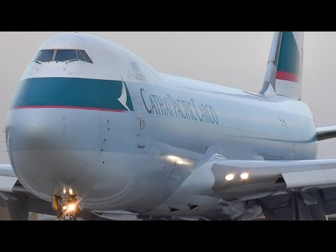 Cathay Pacific Cargo 747-8F POWERFUL SPOOL at Melbourne Airport