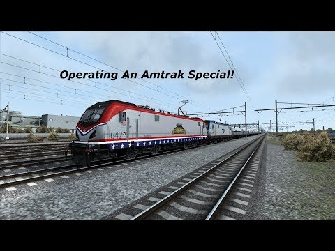 (Train Simulator 2018) Operating Amtrak Chamber Of Commerce Special 855 From Newark To Philadelphia
