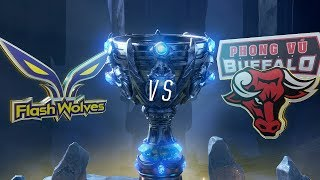 FW vs PVB | Worlds Group Stage Day 6 | Flash Wolves vs Phong Vũ Buffalo (2018)