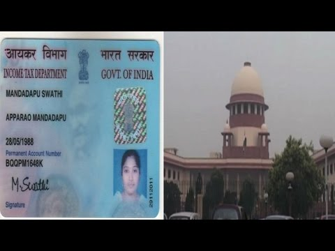 upreme Court questions centre on making Aadhar card compulsory