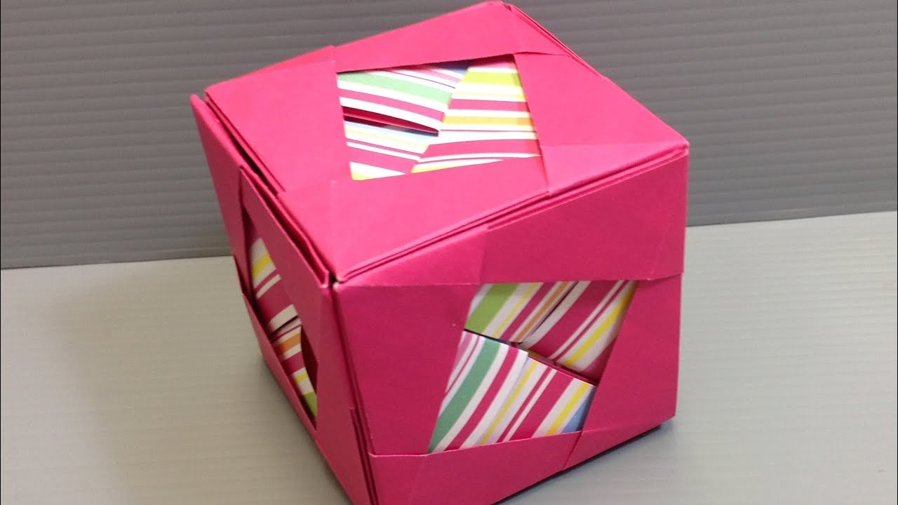 Make an Origami Camellia Cube Kusudama - YouTube - photo#18